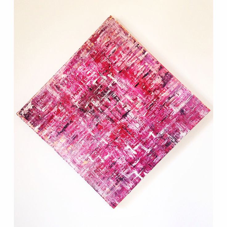 Abstract painting .. Suited for a room with a pink / red theme
