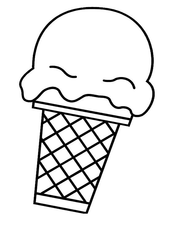 Ice Cream Scoop Template Luxury Ice Cream Cone Clip Art Black And