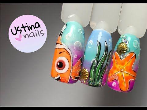 Летний дизайн ногтей  с термо гель-лаками - YouTube