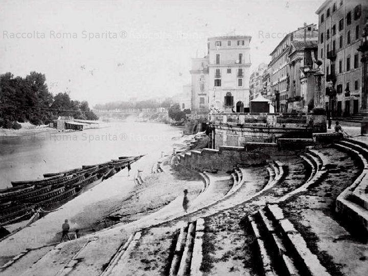 Sponda sinistra del porto di Ripetta Anno: 1878