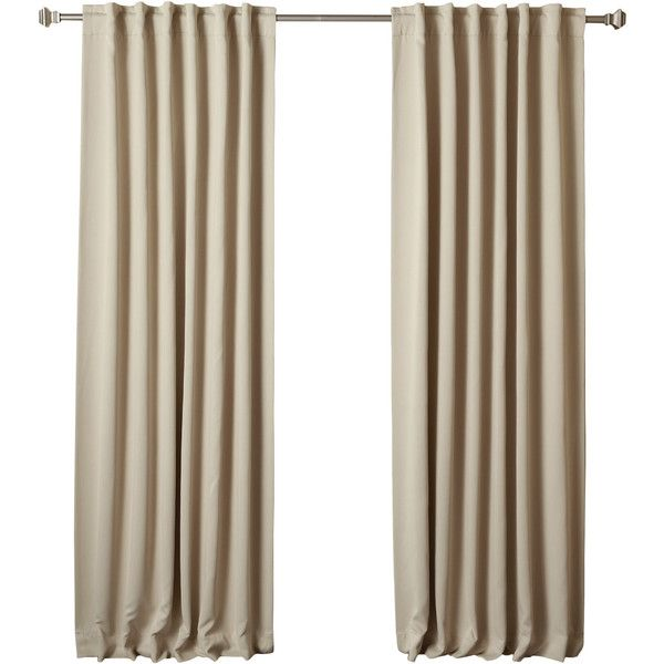 Thermal Insulated Blackout Curtain Panel Reviews ($42) ❤ liked on Polyvore featuring home, home decor, window treatments, curtains, thermal blackout curtains, thermal window coverings, thermal window panel, blackout window panels and blackout drapery panels
