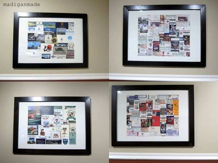Instead of scrapbooking the tickets, put in frame.