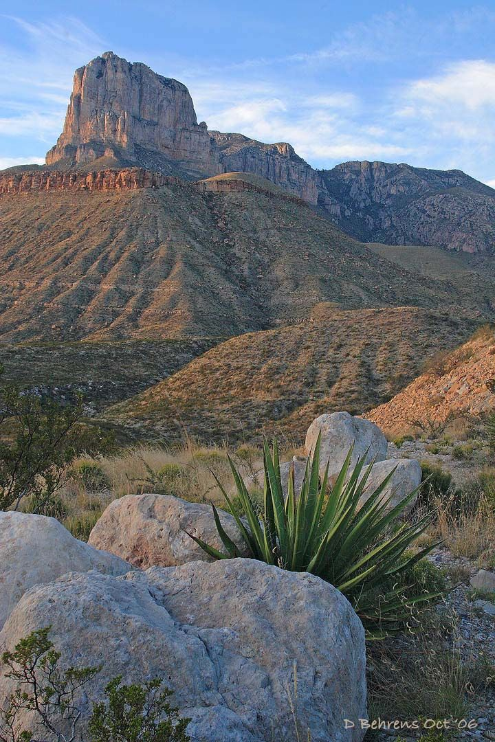 Guadalupe Mountains National Park is just over the Texas/New Mexico border from Carlsbad Caverns. Check two National Parks off your list while you're in the area!.  //Love this EL//