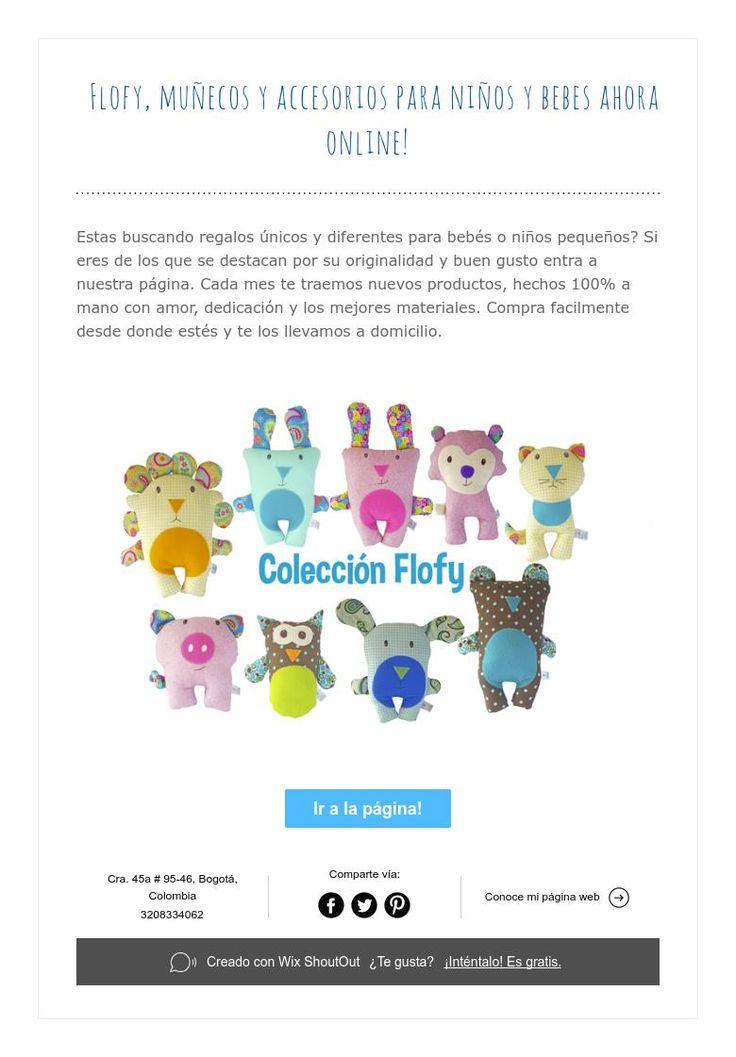 Flofy, muñecos y accesorios para niños y bebes ahora online!