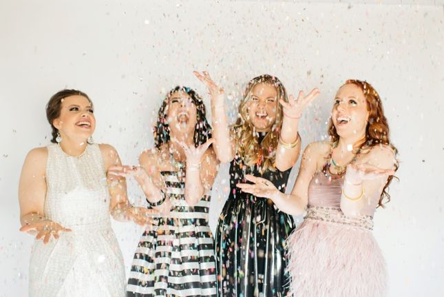 Girls night confetti party with @theconfettibar! {photography by Victoria Gloria}