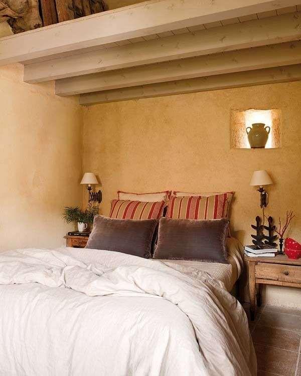 Cómo decorar el dormitorio de tu casa rural - Fuente: Pinterest