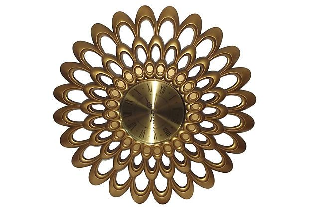 Elgin Sunburst Clock on OneKingsLane.com