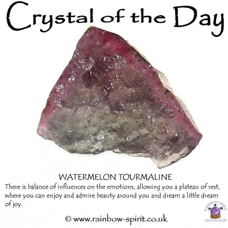 Crystal of the day Watermelon Tourmaline