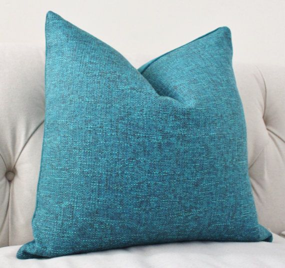 Teal Blue Throw Pillow Covers : Decorative Teal Blue Pillow Dark Turquoise Pillow by MotifPillows, $38.00 Nice or new vacation ...