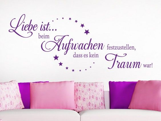 27 best Wandtattoo Sprüche images on Pinterest Deko, Quotes and - wandsprüche fürs schlafzimmer