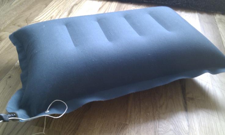Unused travelling air pillow