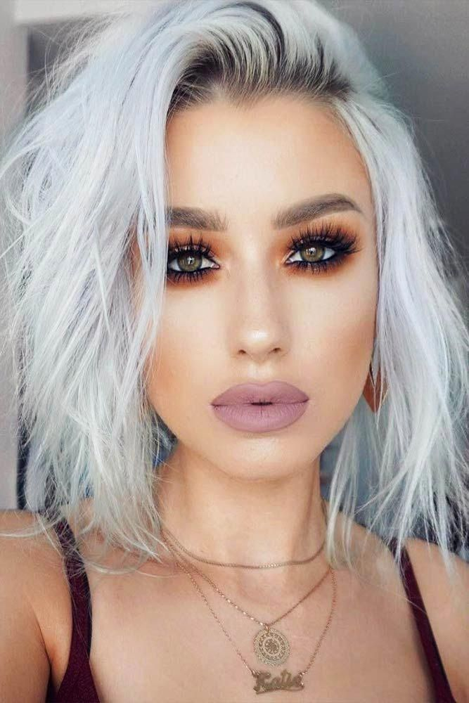 Makeup Hair Styles Silver Color