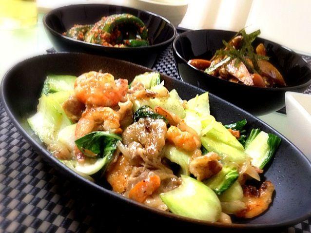 ⚫青梗菜の中華炒め ⚫和風ジャーマンポテト ⚫オイキムチ ⚫白菜と長芋の和風サラダ でした♪(*^^)o∀*∀o(^^*)♪  今日も 〜 yuki610さんの 白菜と長芋の和風サラダ suzuranranranさんの 和風ジャーマンポテト  2品とも二回目のリピ 美味しくいただきました( ´ ▽ ` )ノ - 124件のもぐもぐ - 青梗菜の中華炒め( ´ ▽ ` )ノ by kumonSasa