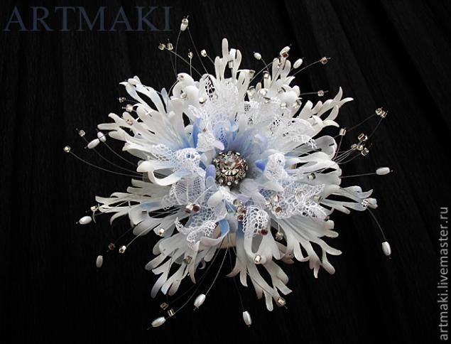 Snowflake flower. Tutorial