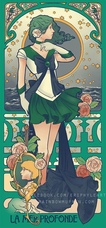 Art Nouveau, Sailor Scout !by Eriphyleart