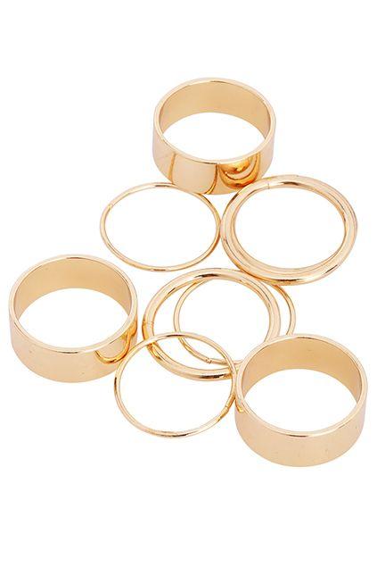 Romwe Gold Rings