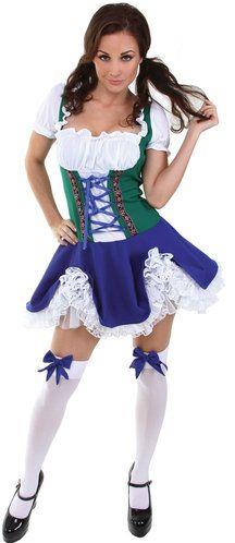 Sexy Blue Beer Maiden Oktoberfest Costume