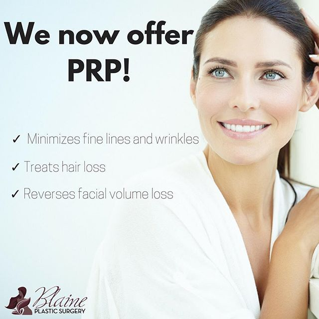 Blaine Plastic Surgery Will Now Be Offering Prp Also Known As The Vampirefacial Prp Has Many Healing Factors And Has Been Proven To Help Decrease Inflammatio