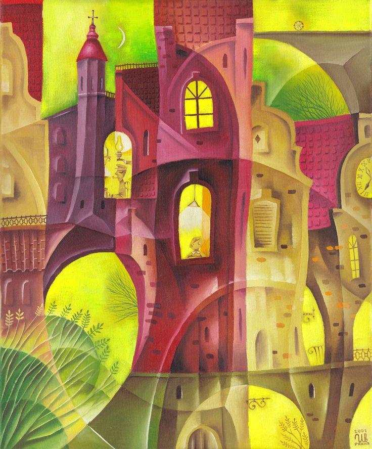 A Warm Evening by Eugene Ivanov, 2002 #eugeneivanov #cubism #avantgarde #cubist #artwork #cubist_artwork #abstract #geometric #association #futurism #futurismo #@eugene_1_ivanov