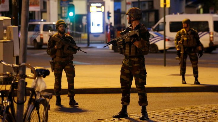 The man reportedly wore a bomb vest and is said to have set off a blast at Brussels Central Station.