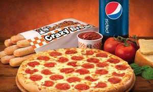 Groupon - $5 for $10 Worth of Pizza, Crazy Bread, Italian Cheese Bread, and Wings at Little Caesars. 15 Locations Available. in Multiple Locations. Groupon deal price: $5.00
