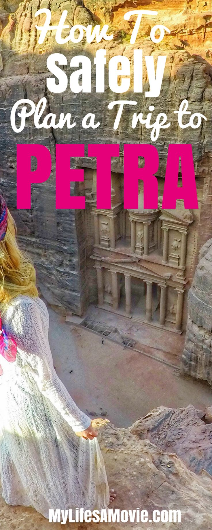 Here's everything you need to know to plan a safe trip to Petra in Jordan! I traveled there solo and had no problems at all!