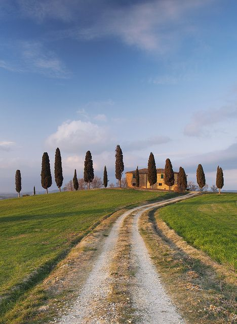 http://www.slowtrav.com/italy/tuscany/cypress_roads.htm  This is a link I came across that will take you to famous Tuscany sites to photograph such as this one