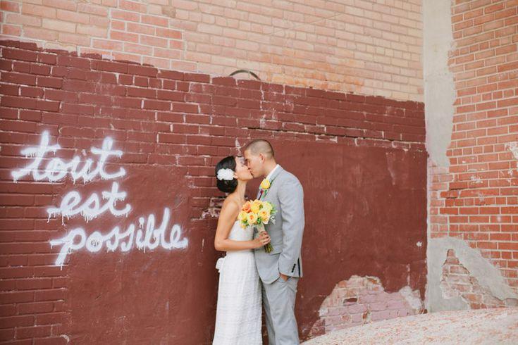 Wedding Photo's at Evergreen Brick Works
