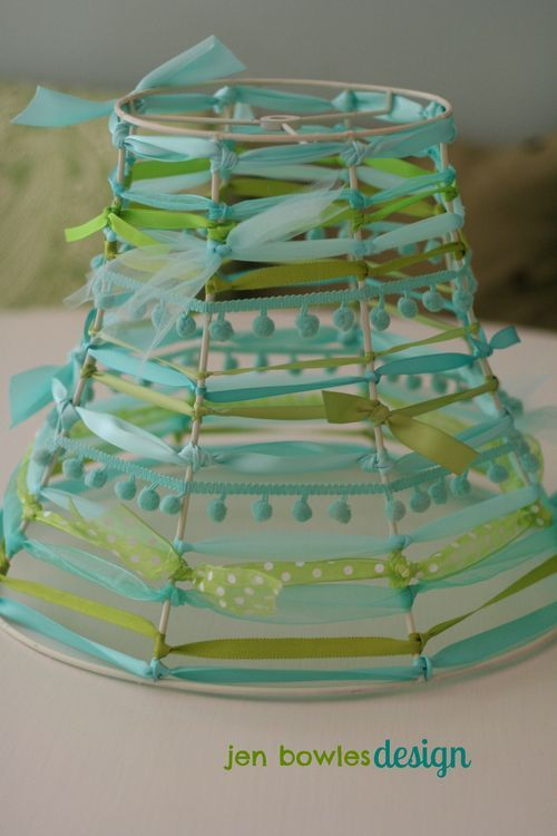 Altered Ribbon Lampshade#Repin By:Pinterest++ for iPad#