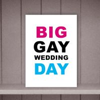 Big Gay Wedding Day Gay Wedding Card