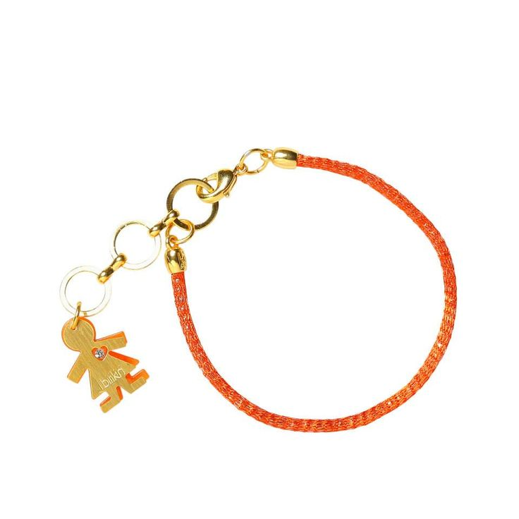 Linea #rainbow by #birikini: bracciale un filo colore arancione
