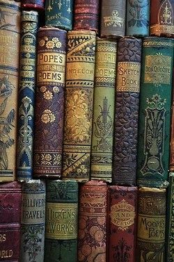 I do love a vintage book, but I usually find them in reds and oranges. I'll have…