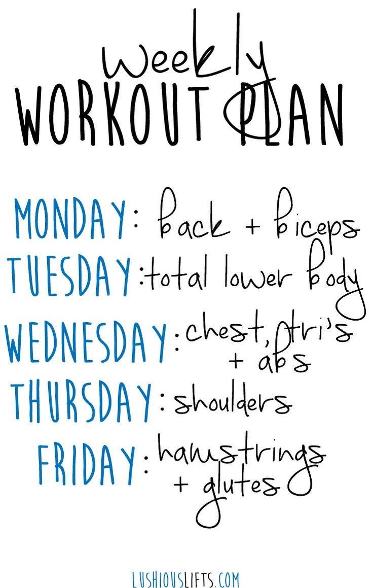 28 best images about Exercise – Weekly Exercise Plans
