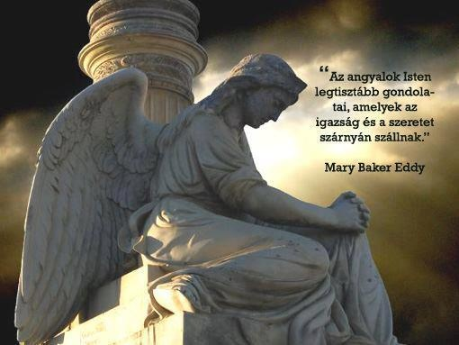 Mary Baker Eddy gondolata az angyalokról. A kép forrása: B13 Rezgése