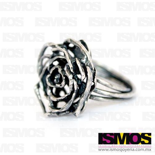 """ISMOS Joyería: anillo de plata """"Rosa"""" // ISMOS Jewelry: silver ring """"Rose"""""""