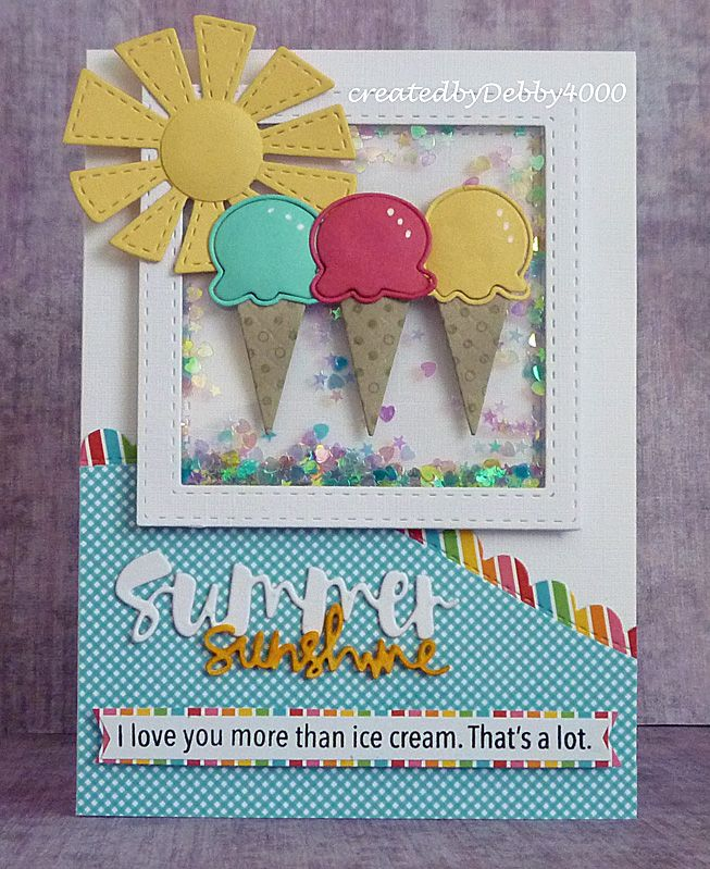 Perfectly Fun Shaker by Debby for the Simon Says Stamp Wednesday challenge (Food or Drink) using Simon Says Stamp Exclusives.