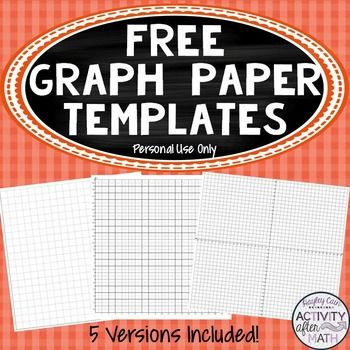 FREE Cartesian Coordinate Plane Graph Paper... by Hayley Cain - Activity After Math | Teachers Pay Teachers