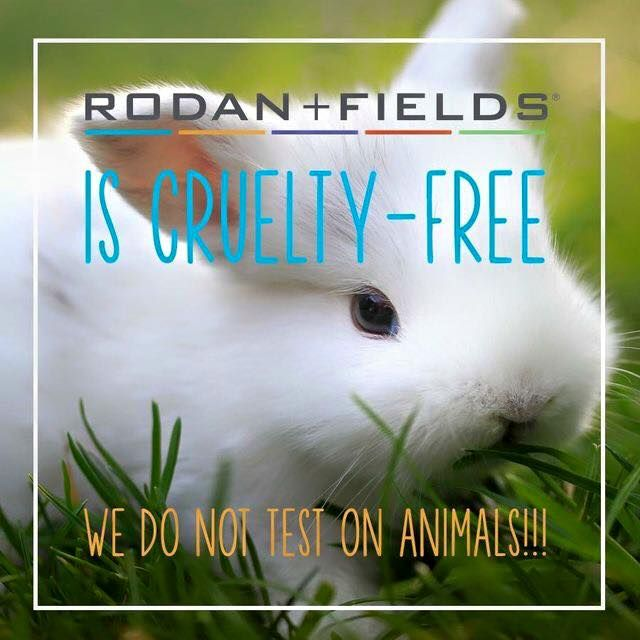 This is SO important to me and makes my heart happy! ❤ NO ANIMAL TESTING for Rodan and Fields... Keeping our little bunnies and other furry friends safe. PETA verified. Can your skincare line say that?