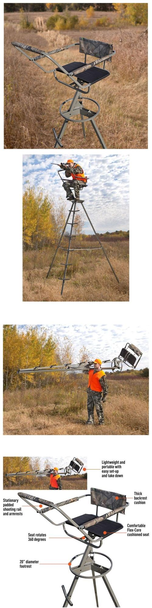 Tree Stands 52508: 12 Tripod Tree Stand 360° Big Game Hunter Deer Turkey Camo Ladder Shooting -> BUY IT NOW ONLY: $149.99 on eBay!