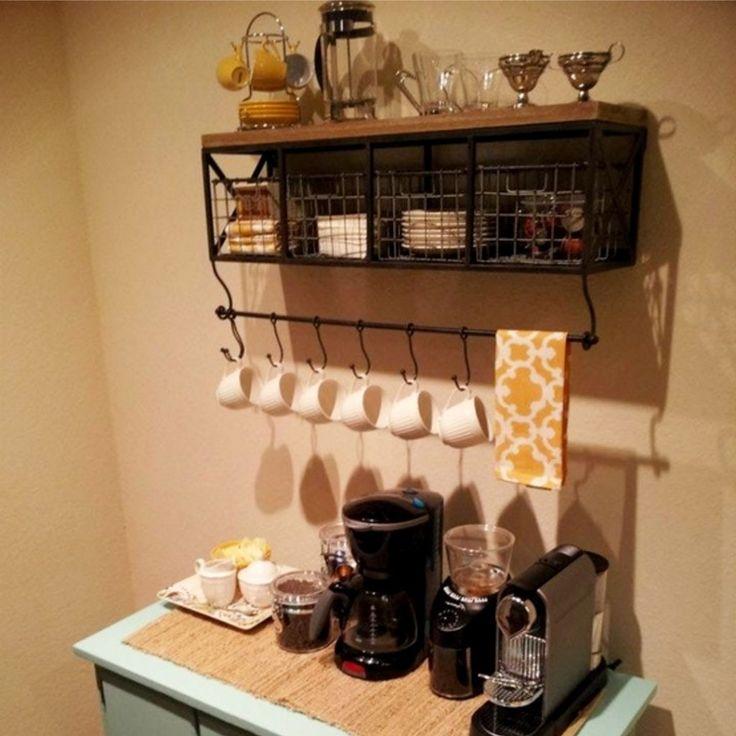 Farmhouse Coffee Station Ideas - Farm Style Coffee Bar ...