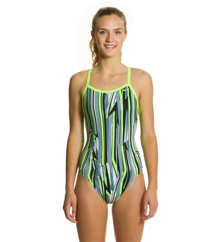 Nike Swim Dynamic Lines Classic Lingerie Tank One Piece Swimsuit at SwimOutlet.com - The Web's most popular swim shop