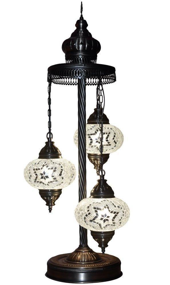 "Mosaic Glass Handmade Tiffany Floor Lamp Light, 29.5"" ( Madrid )"