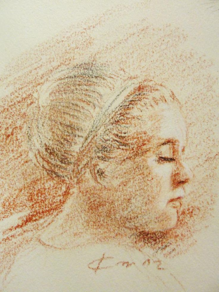 trois crayons | Portrait d'Adèle, dessin (drawing) aux trois crayons, Rolling in the ...