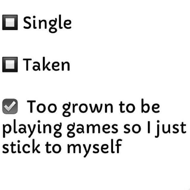 Hahahah! My relationship status! :D