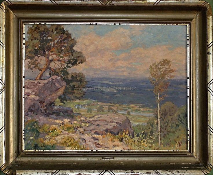 Bubeníček Ota ( 1871 - 1962 ) - Výhled do kraje - olej,karton - 64x80