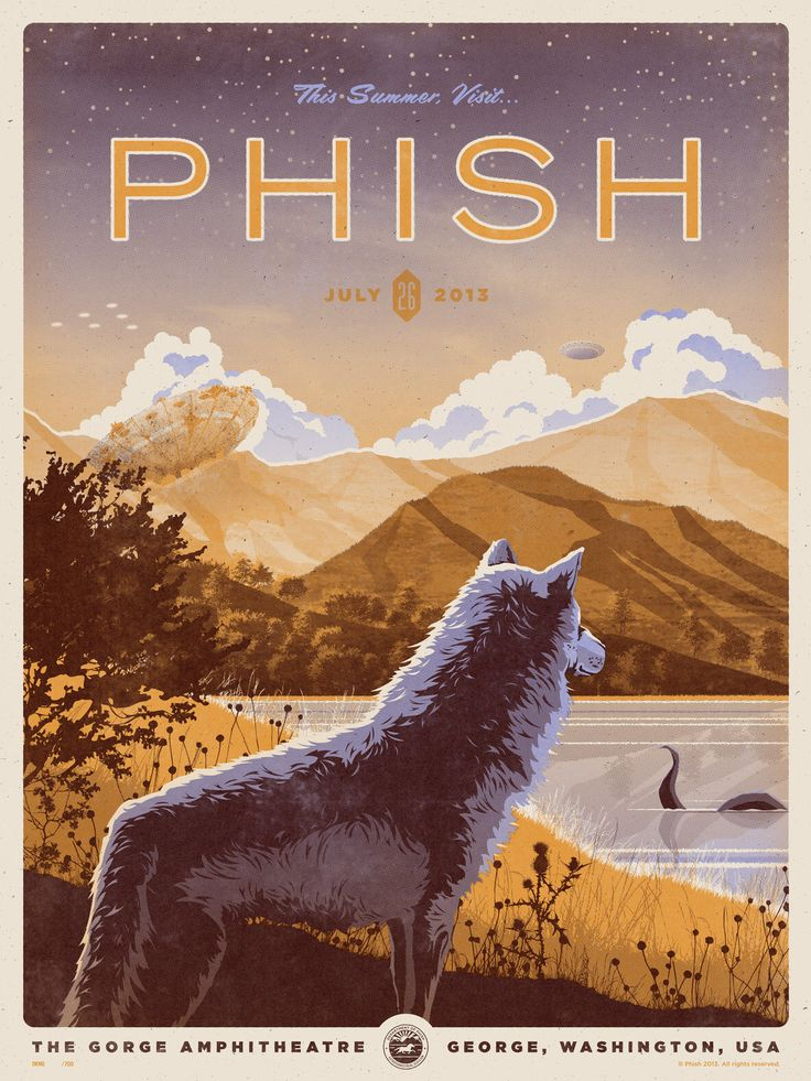 Phish. such a dope poster from The Gorge