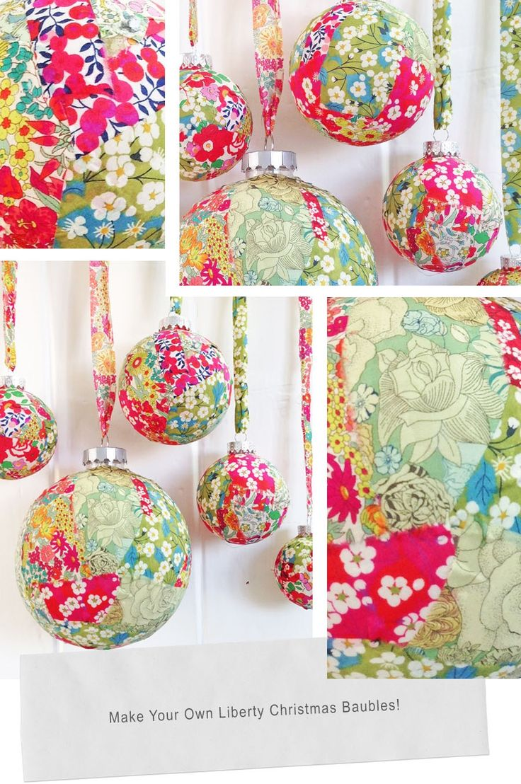 Liberty Christmas Baubles - Deck the Balls with Liberty - Christmas craft project on my blog today