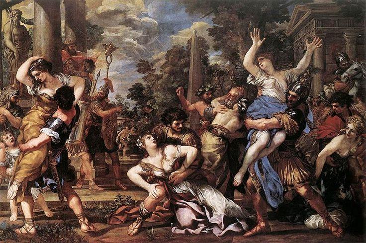 Ratto delle Sabine, Pietro da Cortona, 1627-29Romans, Baroqueart02Jpg 627417, Da Cortona, Rome Italy, Baroque Art, Lenlèvement Des, Sabines Women, Pietro Da, Rape