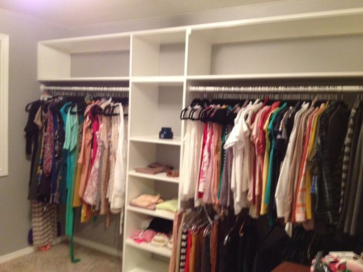 Spare bedroom turned into closet room diy pinterest - Closet for small room ...