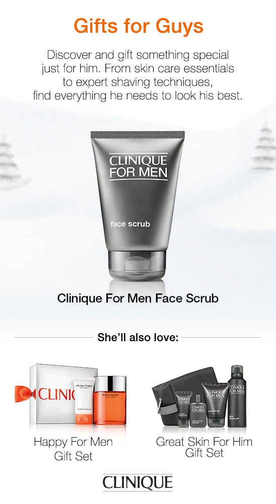 The special guy on your #holiday list will love #Clinique For Men Face Scrub